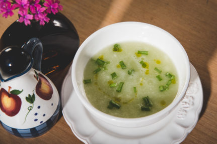 Vegan Gazpacho Cold Soup with Grapes and Cucumber