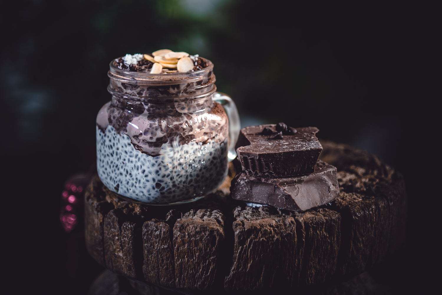 Vanilla and Chocolate Chia Seed Pudding