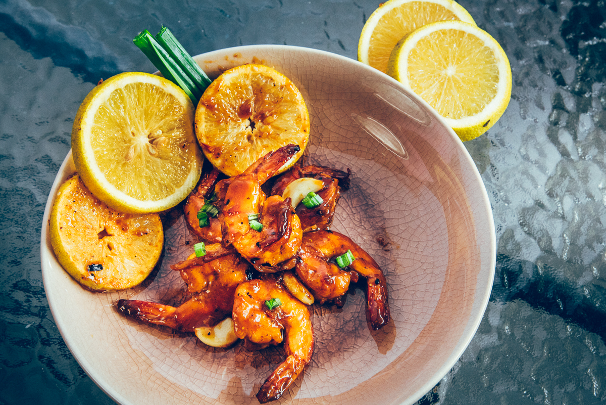 Shrimp in Sweet Lime Juice