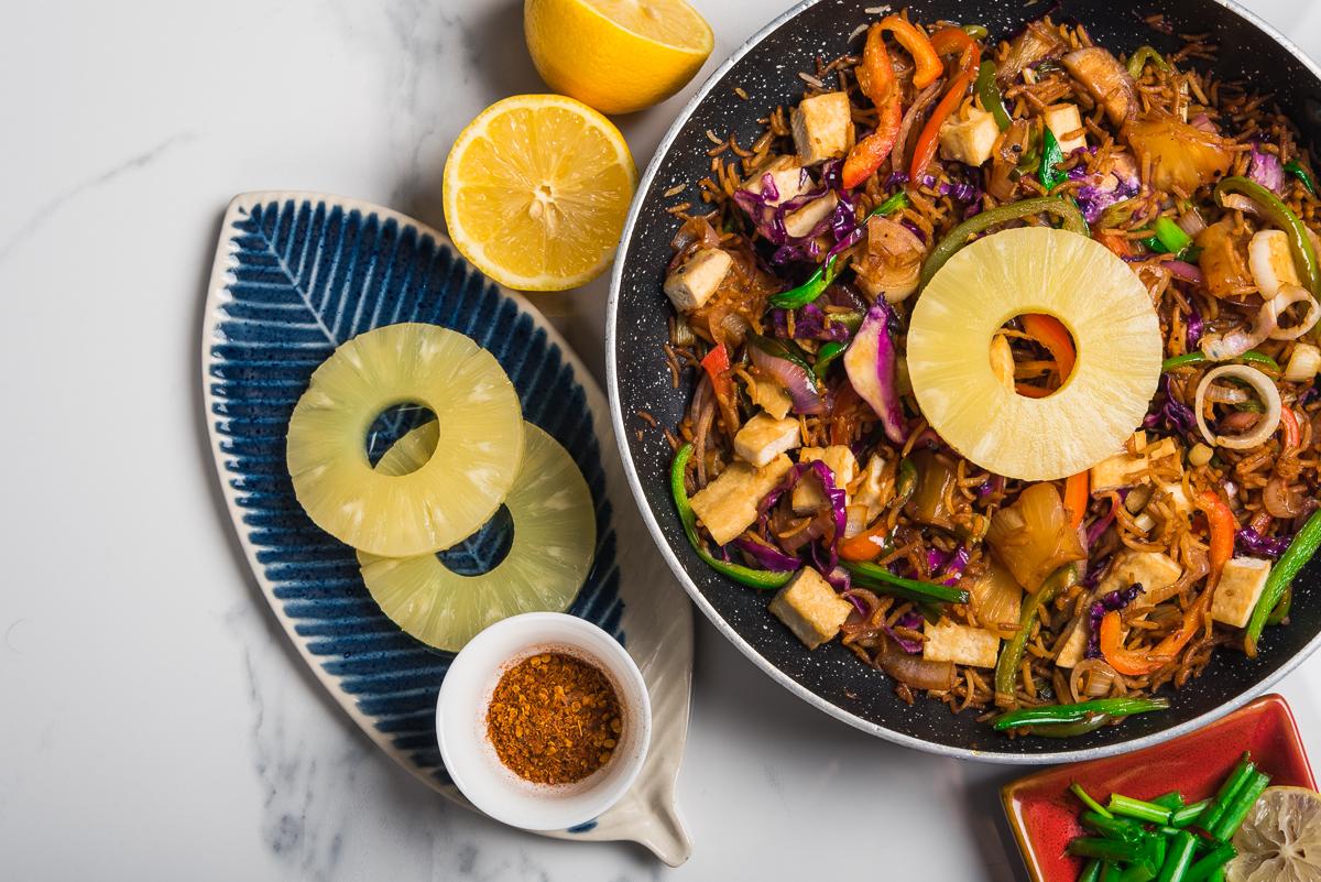 Thai Pineapple and Tofu Fried Rice
