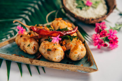 Pan Fried South Indian Rice Dumplings