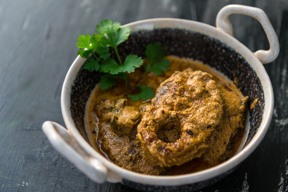 Gluten Free Mustard and Poppy Seeds Fish Curry