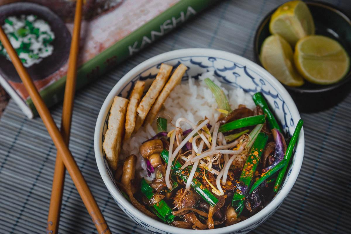 Japanese Sticky Rice With Veggies in Homemade Teriyaki Sauce