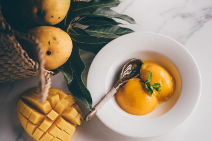 Mango Sorbet without Ice Cream Maker