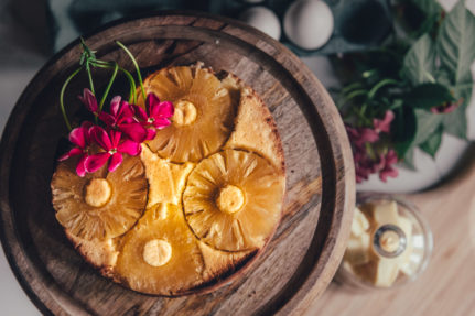 Glutenfree Pineapple upside down cake