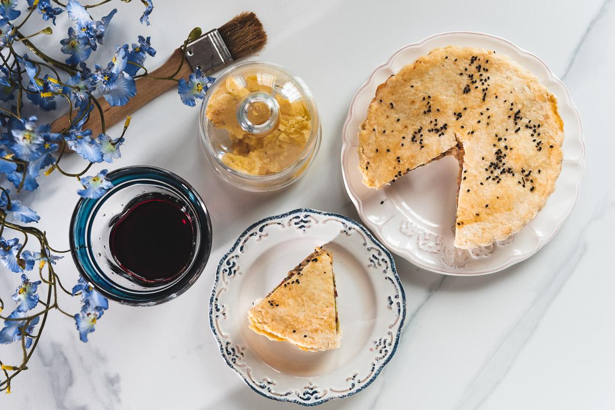 Gluten-free chicken pie from scratch