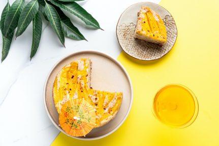 Glutenfree mango chilli upside down cake