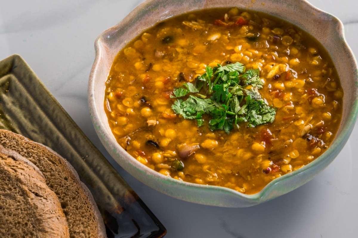 Lentil dal soup the Indian way   Vegan